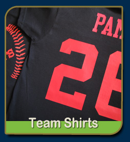 team shirts with numbers and names
